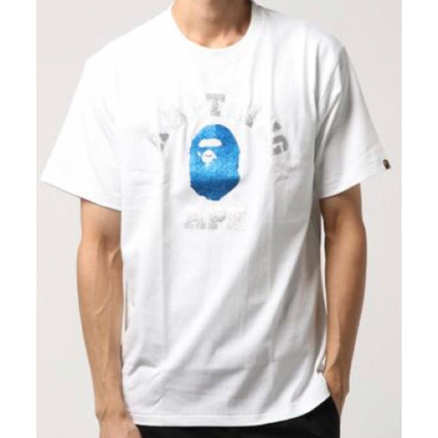 A BATHING APE(アベイシングエイプ)のA BATHING APE GLITTER COLLEGE TEE L 白 メンズのトップス(Tシャツ/カットソー(半袖/袖なし))の商品写真
