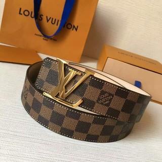 LOUIS VUITTON - Louis Vuitton ルイヴィトン ベルト ゴルド金具レザー ビジネス紳士