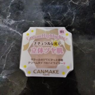キャンメイク(CANMAKE)の●新品 キャンメイク クリームハイライター 01(フェイスカラー)