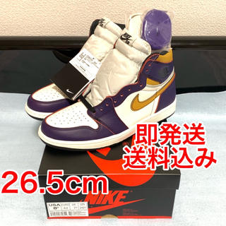 NIKE - Nike SB AIR JORDAN 1 HIGH LAKERS 26.5cm