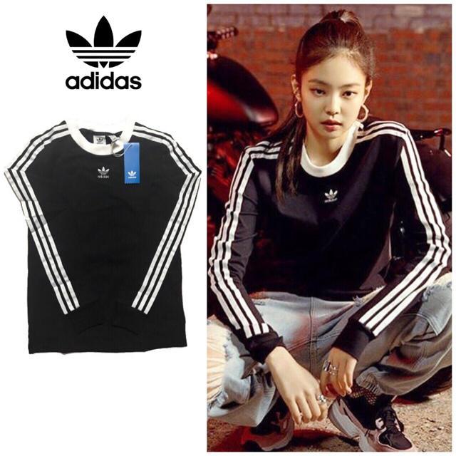 adidas(アディダス)のadidas originals スリーストライプ ロングスリーブ Tシャツ新品 レディースのトップス(Tシャツ(長袖/七分))の商品写真