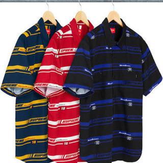 【極美品】SUPREME Striped Racing Work Shirt