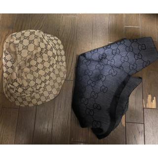 グッチ(Gucci)のGUCCI バケットハット スカーフ セット(ハット)