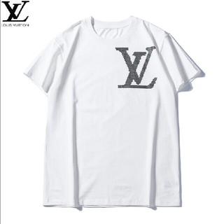 ルイヴィトン(LOUIS VUITTON)のLOUIS VUITTON ホワイト ロゴ おしゃれ Tシャツ (Tシャツ/カットソー(半袖/袖なし))