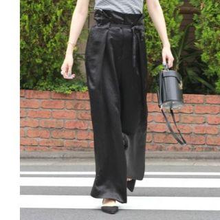 IENA - IENA ヘビーサテンパンツ 定価17,280円 size36 ブラック