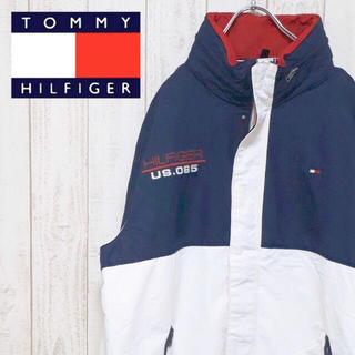 TOMMY HILFIGER - 【トレンド】トミーヒルフィガー ナイロンジャケット トリコカラー フラッグロゴ