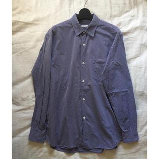 COMOLI - 17ss comoli コモリシャツ サイズ2 サックス sax