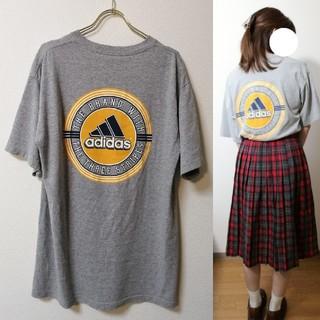 アディダス(adidas)のadidas * バックプリント Tシャツ USA製 ヴィンテージ(Tシャツ/カットソー(半袖/袖なし))