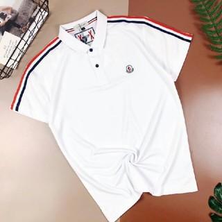 MONCLER - MONCLER  人気新品  無地  半袖  日常用 ポロシャツ