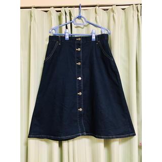 ユニクロ(UNIQLO)のUNIQLO デニム フロントボタン スカート(ロングスカート)