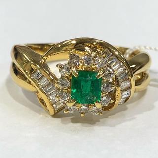 値下げ♡K18 エメラルド ダイヤモンド リング(リング(指輪))