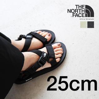 THE NORTH FACE - 完売品!ノースフェイス 25cm 黒 ブラック サンダル ウルトラストレイタム