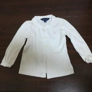 ラルフローレン(Ralph Lauren)のラルフローレン 丸襟ホワイトシャツ24m(ブラウス)