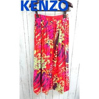 KENZO - KENZO ケンゾー 赤 スカーチョ スカンツ kenzo 9分丈ガウチョパンツ