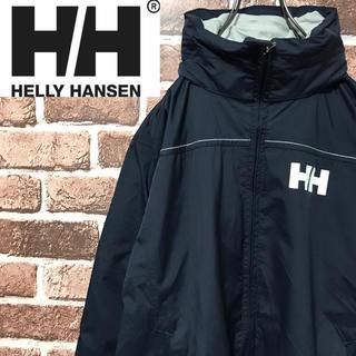 ヘリーハンセン(HELLY HANSEN)の【激レア】ヘリーハンセン 腕にワッペンワンポイントロゴネイビーナイロンジャケット(ナイロンジャケット)