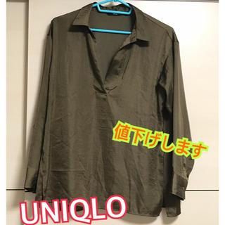 ユニクロ(UNIQLO)のテロテロワイシャツ(シャツ/ブラウス(長袖/七分))
