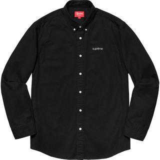シュプリーム(Supreme)のSサイズ Supreme Washed Twill Shirt Black(シャツ)