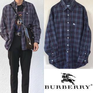BURBERRY - 90's burberry バーバリー ノバチェック シャツ