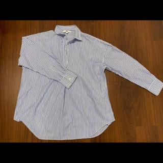 ユニクロ(UNIQLO)のユニクロ ブルーストライプシャツ Lサイズ(シャツ/ブラウス(長袖/七分))