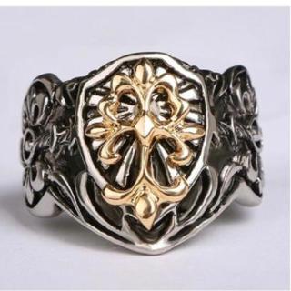 指輪 ユニセックス クロスリング メンズリング アクセサリー 新品未使用 (リング(指輪))