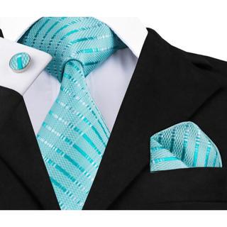 高級 ネクタイ ポケットチーフ カフス 3点セット A-2