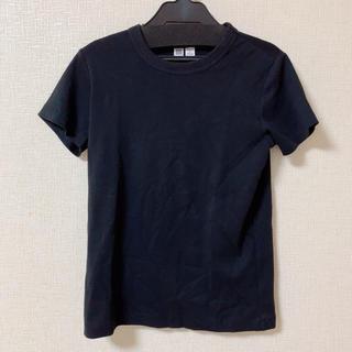 UNIQLO - 美品 UNIQLO ユニクロ レディース 無地 Tシャツ ブラック 黒 M
