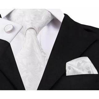 高級 ネクタイ ポケットチーフ カフス 3点セット C-3