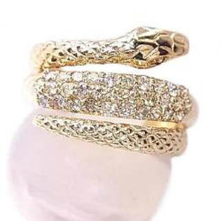 K18 ダイヤ指輪リングスネイク(リング(指輪))