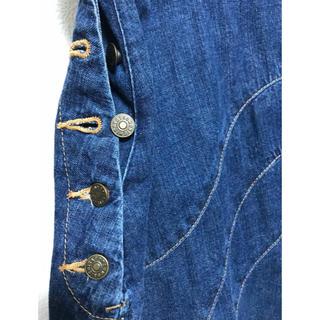ツモリチサト(TSUMORI CHISATO)のツモリチサト 2000年初頭 予約完売 ロゴ ボタン デニム ミニ スカート(ミニスカート)