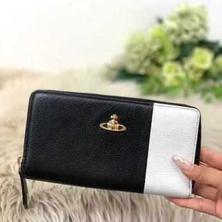 ヴィヴィアンウエストウッド(Vivienne Westwood)のヴィヴィアンウエストウッド ラウンドファスナー 長財布 バイカラー (財布)