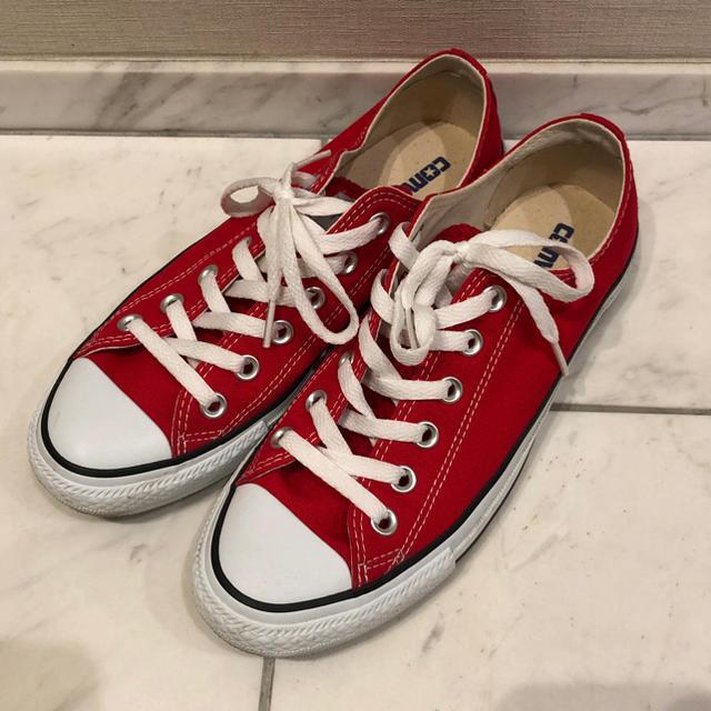 CONVERSE(コンバース)のコンバース ローカット 赤 24.5cm レディースの靴/シューズ(スニーカー)の商品写真