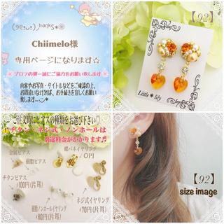 Chiimelo様【92】蝶バネイヤリング ラクマパック発送♪(ピアス)