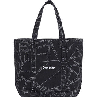 未開封 Supreme Gonz Map Denim Tote Black