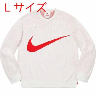シュプリーム(Supreme)のL Supreme Nike Swoosh Sweater White(ニット/セーター)