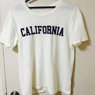 バビロン(BABYLONE)のIERI ニット素材 ロゴTシャツ(Tシャツ(半袖/袖なし))