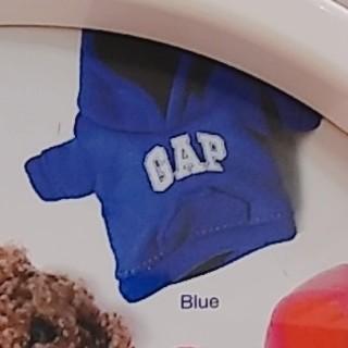ギャップ(GAP)のGAP 青色パーカー ガチャガチャ(キャラクターグッズ)