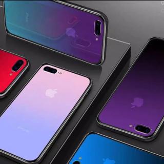 ece9005d62 iPhone7 iPhone8 グラデーション 強化ガラス スマホケース(iPhoneケース)
