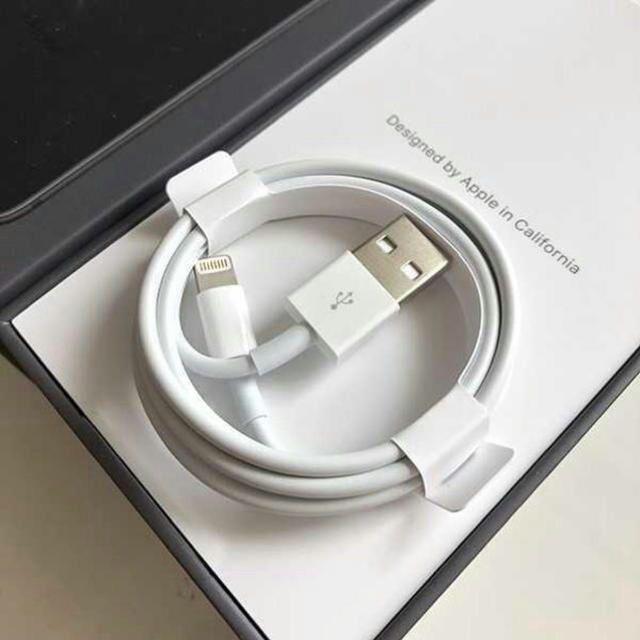 Apple(アップル)のライトニングケーブル スマホ/家電/カメラのスマートフォン/携帯電話(バッテリー/充電器)の商品写真