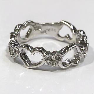 K18WG ハートモチーフ ダイヤモンド リング(リング(指輪))