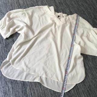 シマムラ(しまむら)の白のシフォンシャツ(シャツ/ブラウス(長袖/七分))