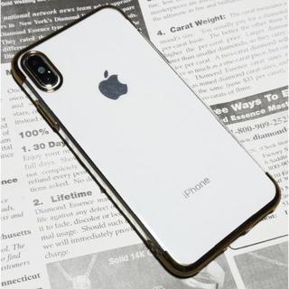 iPhoneXs MAX 最新TPUクリアケース(Gold)薄型スリムカバー
