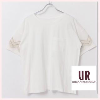 アーバンリサーチ(URBAN RESEARCH)の✴︎新品✴︎白シャツ アーバンリサーチ Tシャツ 刺繍 トップス レディース(Tシャツ(半袖/袖なし))