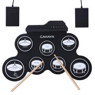 電子ドラム ポータブル 五種類のドラム音色組 メトロノーム機能
