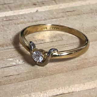 k18 pt950 ダイヤモンド 0.11ct リング