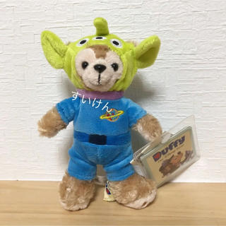 ダッフィー - 香港ディズニー ダッフィー  リトルグリーメン キーチェーン 日本未発売