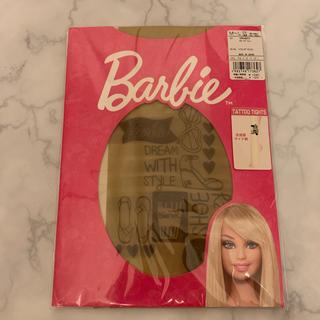 バービー(Barbie)のbarbieタトゥータイツ モチーフプリントストッキングベージュ(タイツ/ストッキング)