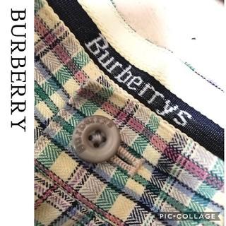 バーバリー(BURBERRY)の【BURBERRY】90's vintage ガンクラブチェック タックパンツ(カジュアルパンツ)