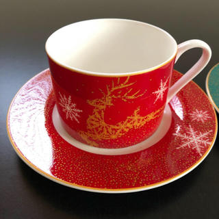 フランフラン(Francfranc)のフランフラン Francfranc カップ ソーサー クリスマス おまけ付き(食器)