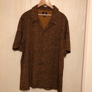 エイチアンドエム(H&M)の【H&M】オープンカラーシャツ(シャツ)
