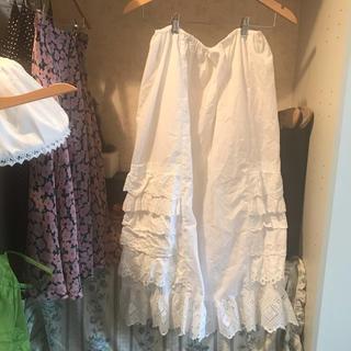 france vintage cotton skirt.